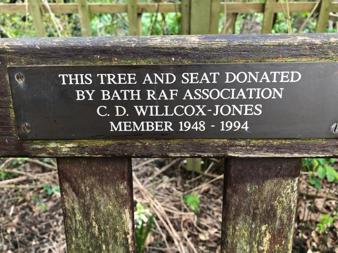 Willcox-Jones, Bath RAF Association